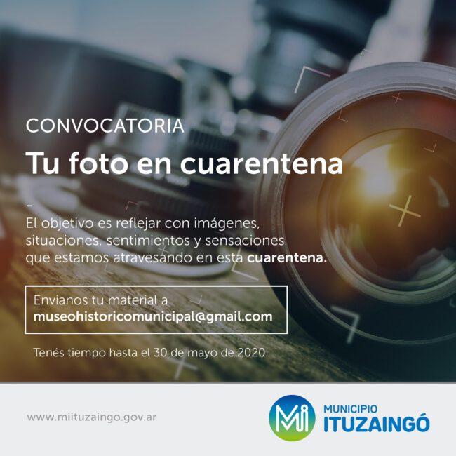Ituzaingó: abren la inscripción para el concurso 'Tu foto en cuarentena' 1