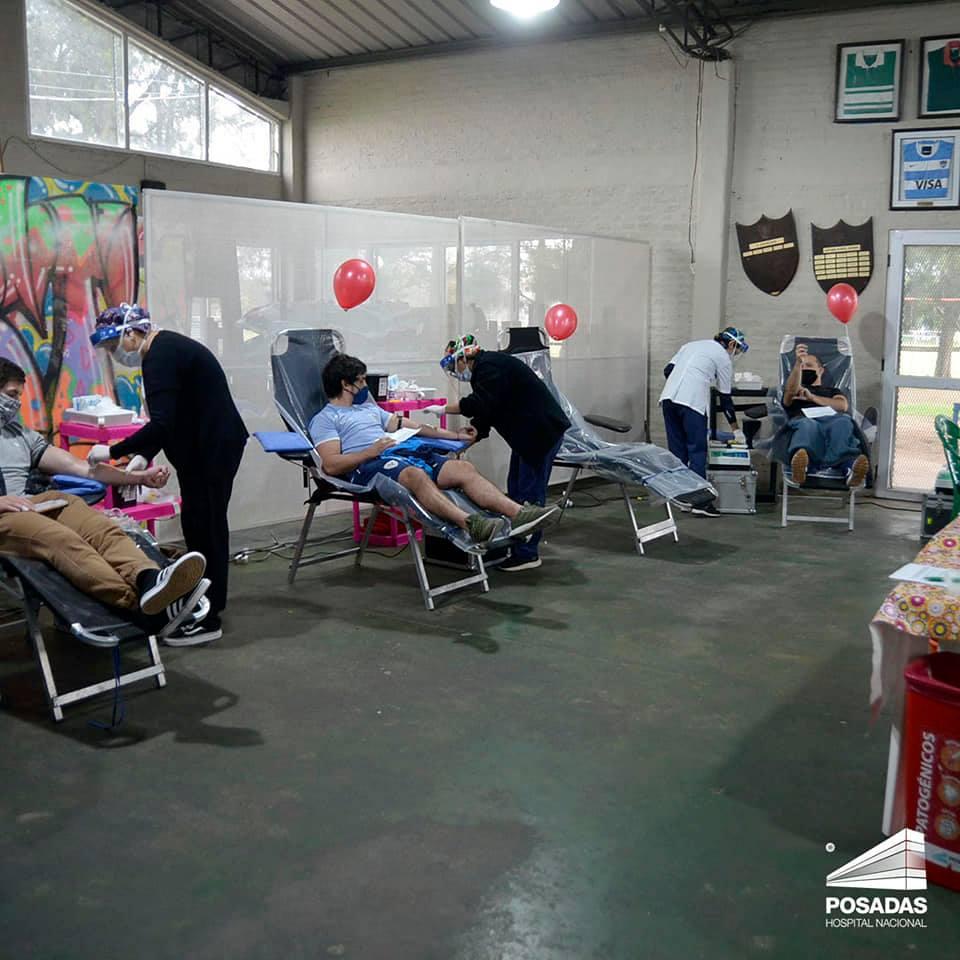 El Hospital Posadas organiza una colecta de sangre en el Club Deportivo Morón