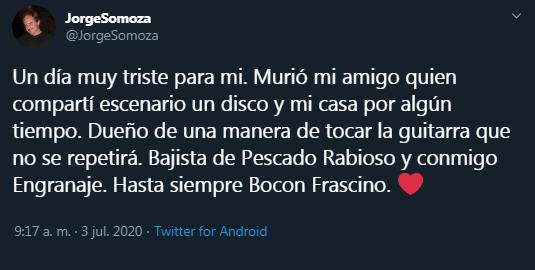 Ituzaingó de luto: murió el Bocón Frascino, bajista de Pescado Rabioso 3