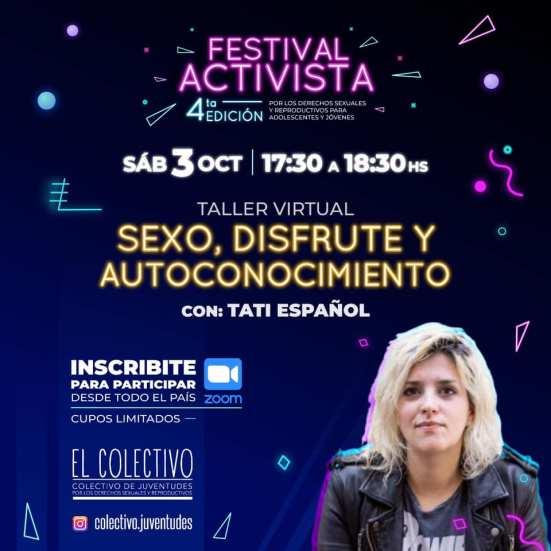 Se realizará virtualmente el Festival Activista por los derechos Sexuales y Reproductivos de las juventudes 2