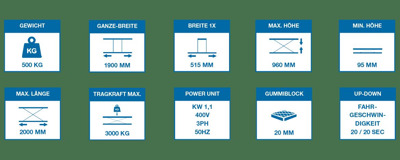 Hebe- und Richtbühne HRB 960 DOUBLE