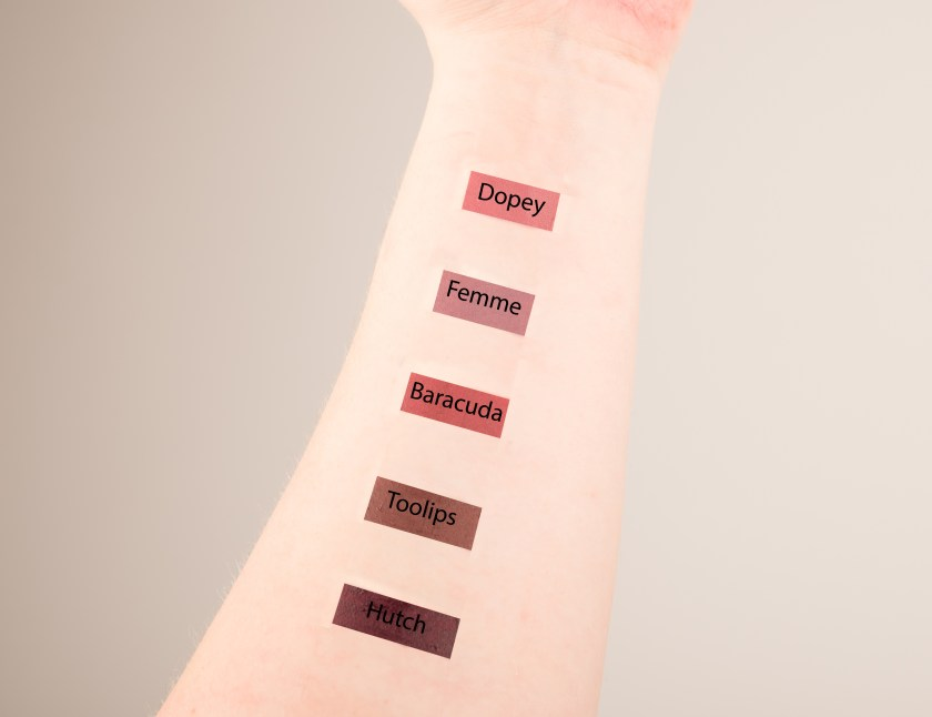 Colourpop Ultra Satin Lip, Colourpop, Colorpop, Ultra, Satin, Lip, Matte, Ultra Satin Lip, Liquid Lipstick, Lipstick, Liquid,Lippenstift, flüssig, swatch, swatches, Erfahrungen, Erfahrung, Erfahrungsbericht, tragebild, dopey, femme, baracuda, toolips, hutch, sammlung