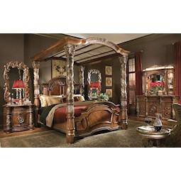 villa valencia 4 pc king bedroom set