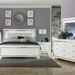 Lacks Allura White 4 Pc Full Bedroom Set