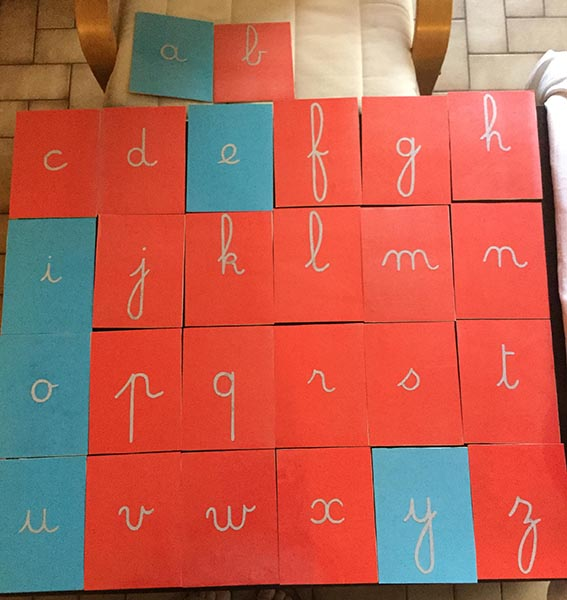 Fabrication des lettres rugueuses