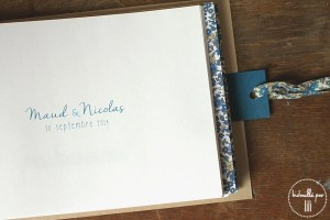 livre d'or liberty eloise bleu