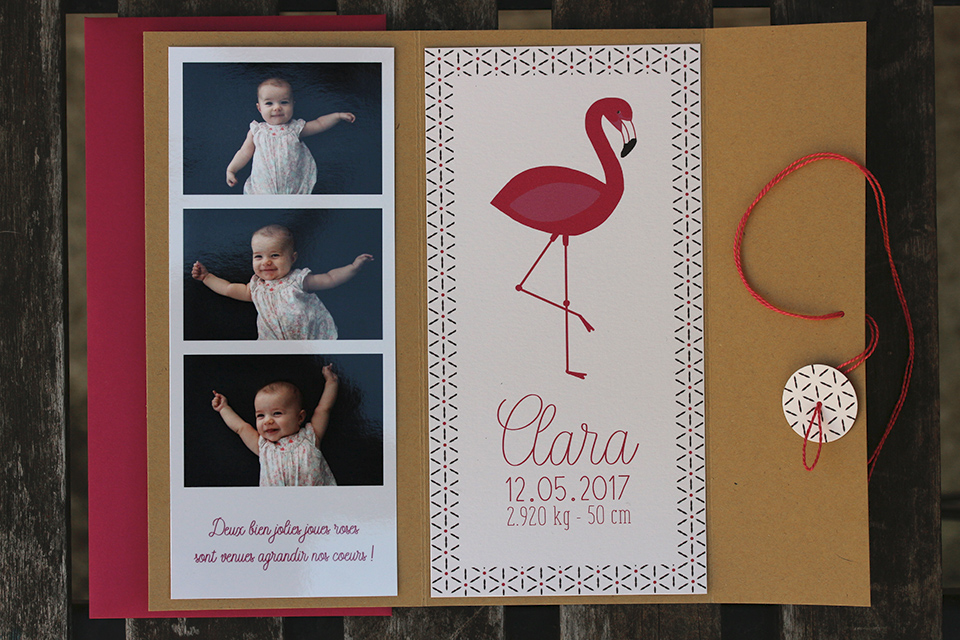 Faire-part pochette Clara