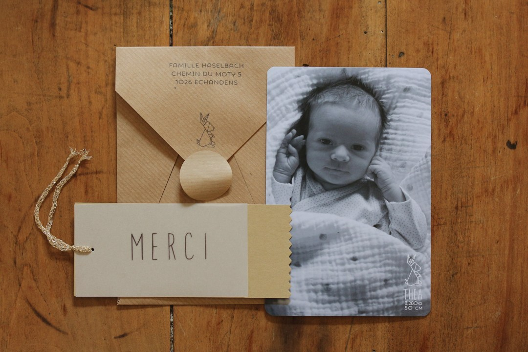 faire-part naissance origami thea 4