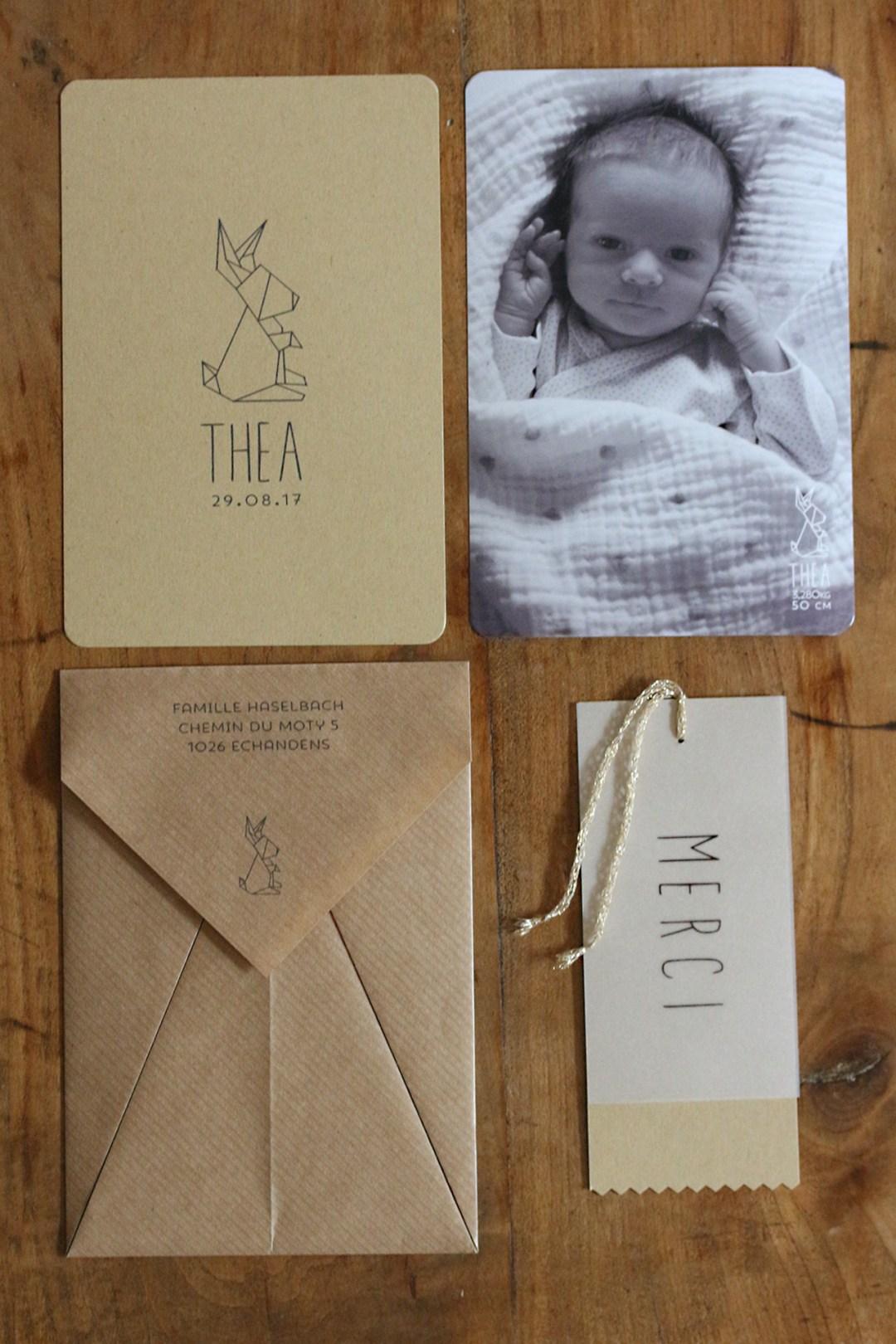 faire-part naissance origami thea 5