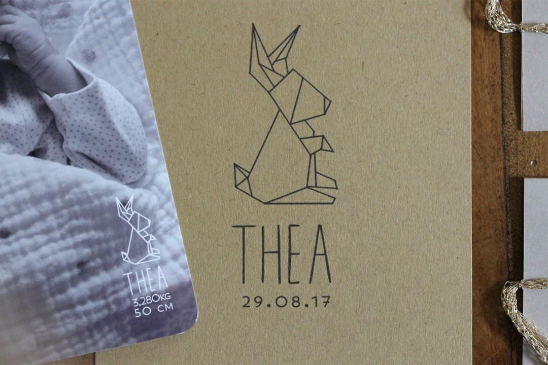 faire-part naissance origami thea