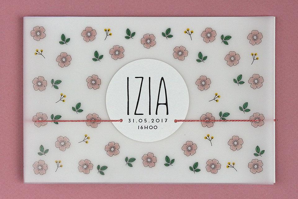 Faire-part de naissance Izia