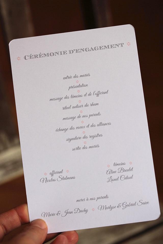 programme cérémonie