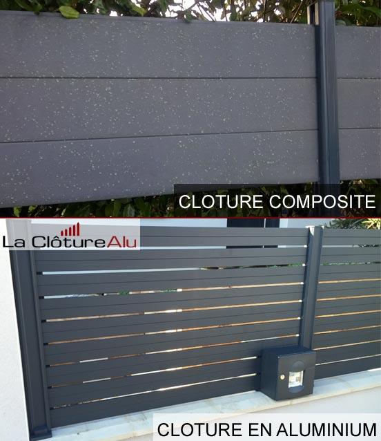 aluminium ou en bois composite