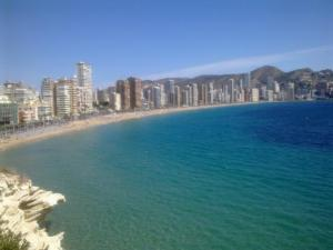 Pláž Levante Benidorm