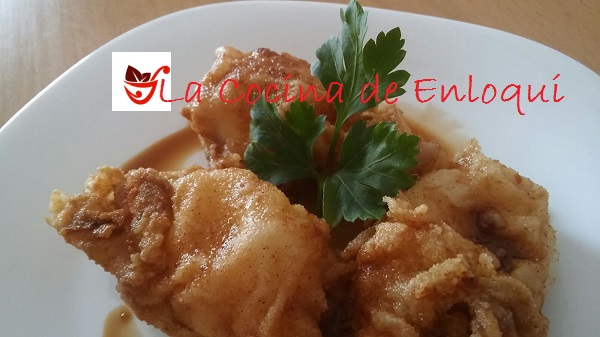 Calamares rebozados con salsa soja