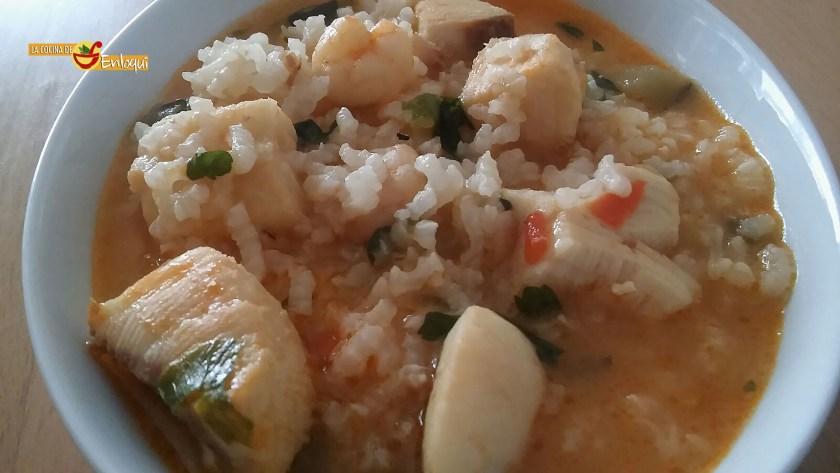 Cazuela de arroz con pescado