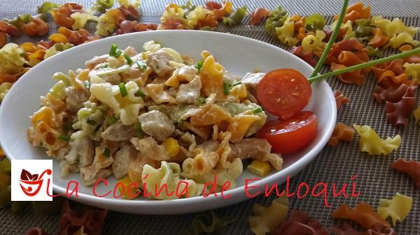 Ensalada de pasta con pollo