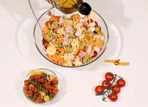 ensalada de pasta de frutos de mar