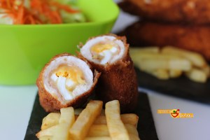 Flamenquín de pollo y jamón serrano