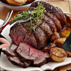 Carne asada con judías