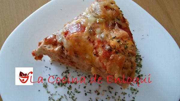 Pastel de pizza barbacoa