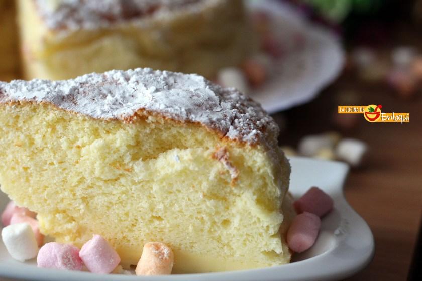 Pastel de queso japonés o Cotton cheesecake