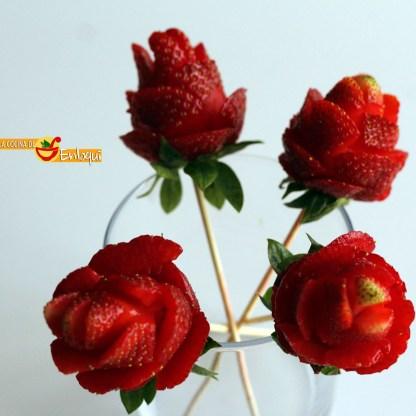 Rosas de fresa