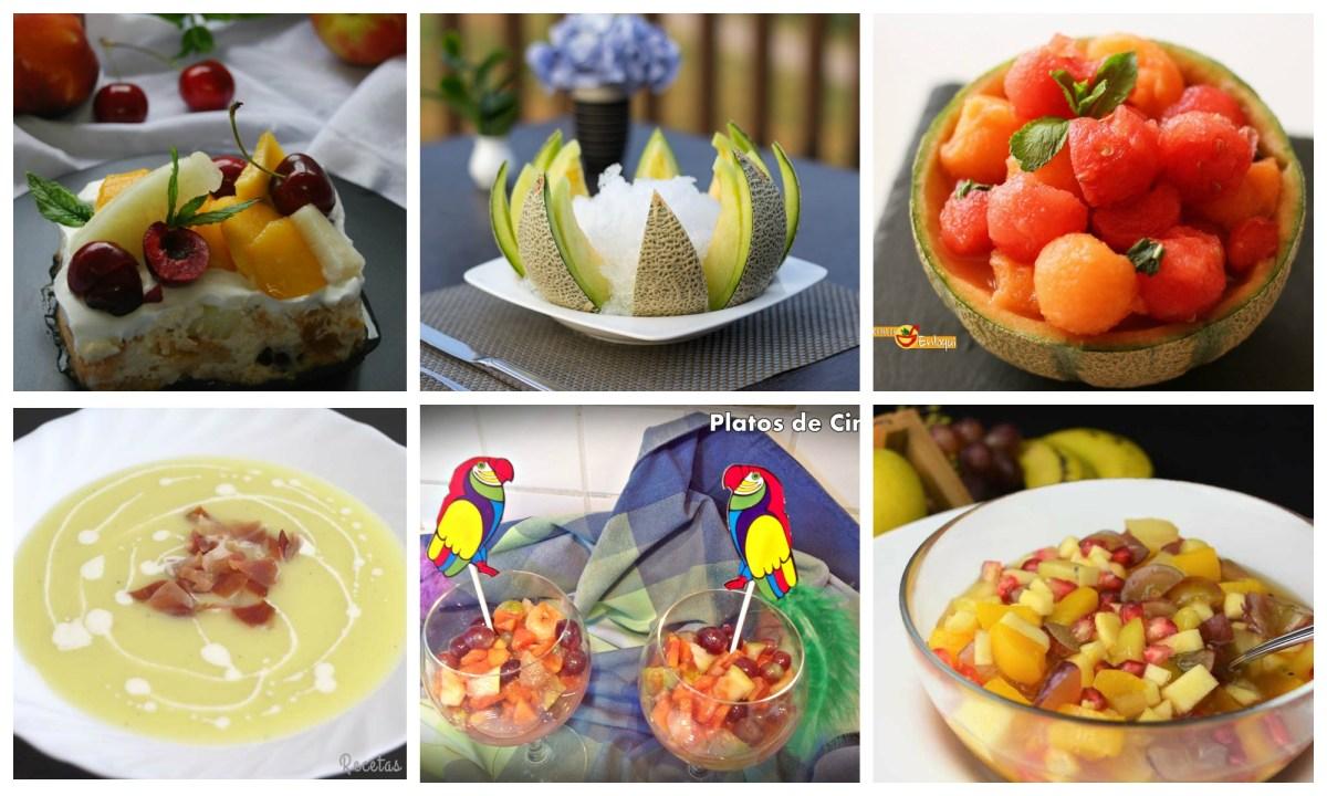 Recetas con melón y otras frutas