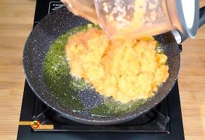 Hamburguesa de pollo y verdura