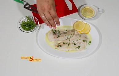 Pescado al limón en el microondas