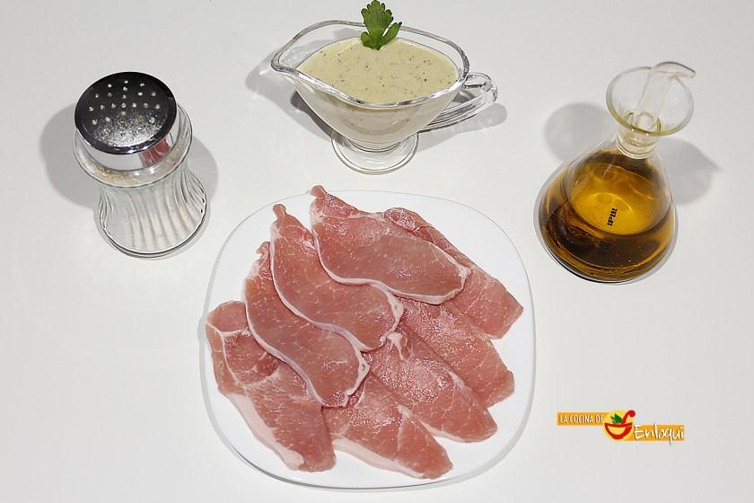 Lomo en salsa roquefort