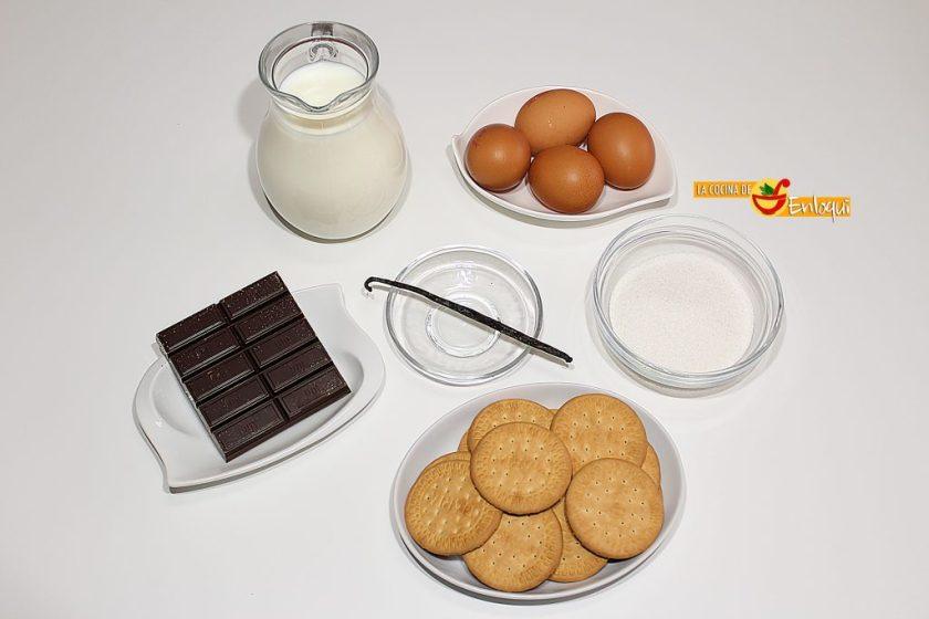 Natillas caseras de chocolate