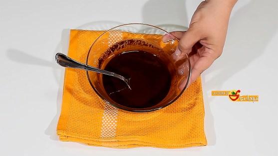 Brownie exprés en el microondas