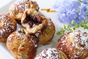 Donuts de pan de molde rellenos de nutella casera