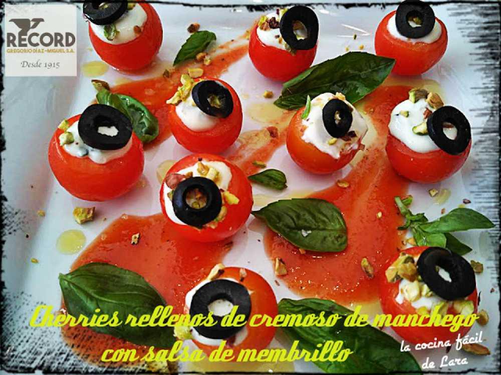 tomates cherry rellenos con queso