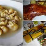 Comida navideña: sopa rellena, asado de cerdo y turrones