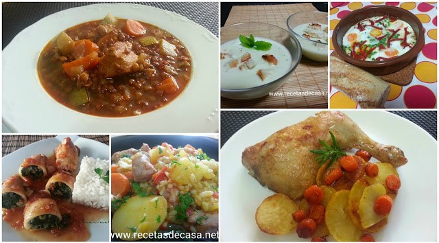 menu semanal recetas faciles