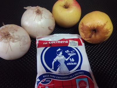 empanadillas de cebolla y manzana