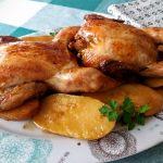 Picantones asados al limón