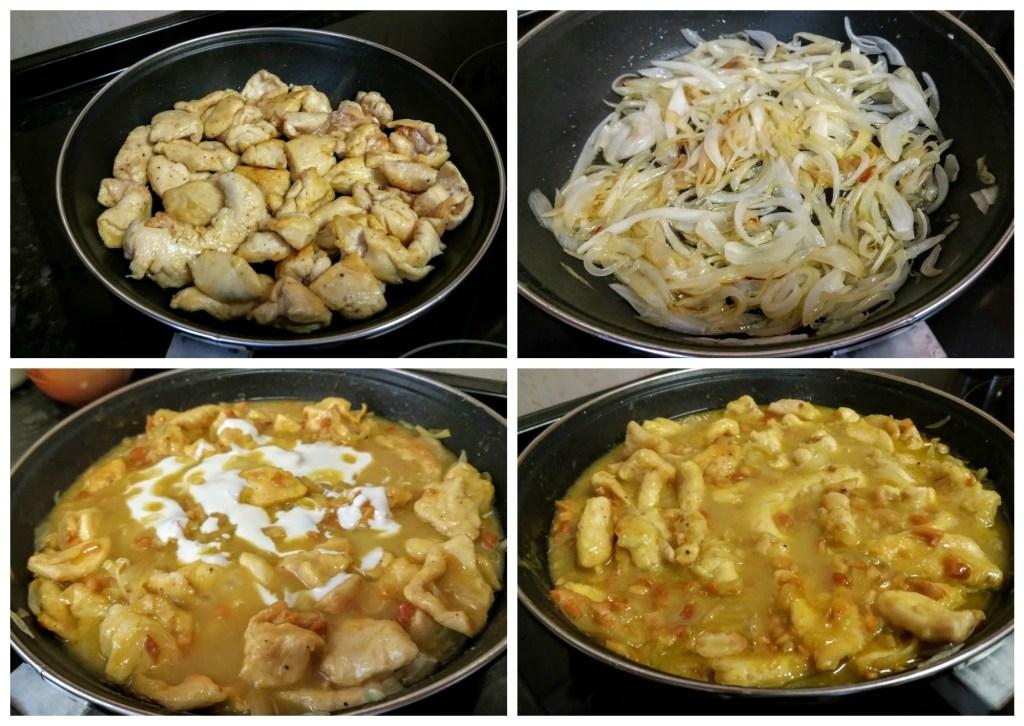 pavo al curry paso a paso