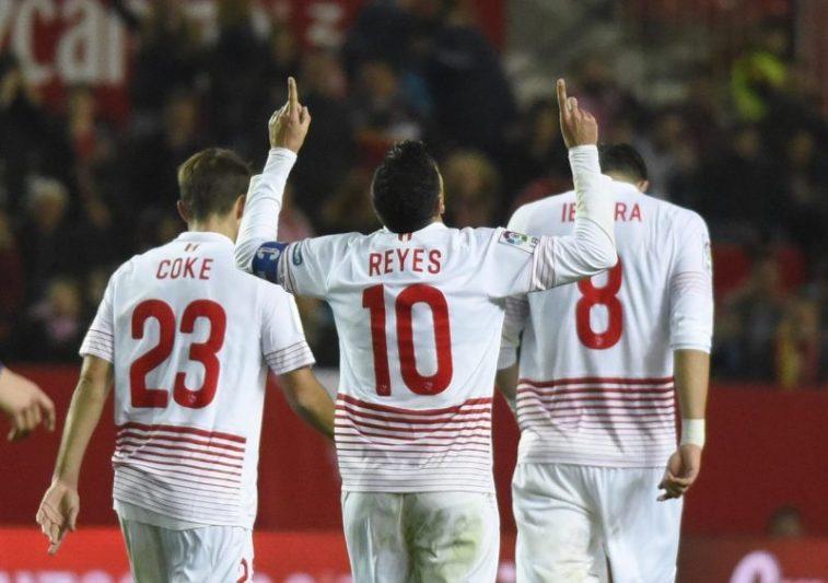 Celebración de Reyes frente a la UD Logroñés | Imagen: Sevilla FC