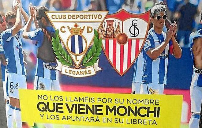 Ingenio en el Leganés: «Que viene Monchi, no los llaméis por sus nombres»