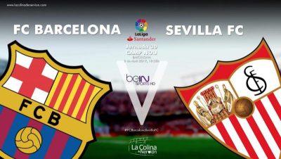 Un Sevilla sin alma sale goleado del Camp Nou