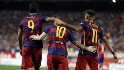 Los números de la 'MSN' ante el Sevilla