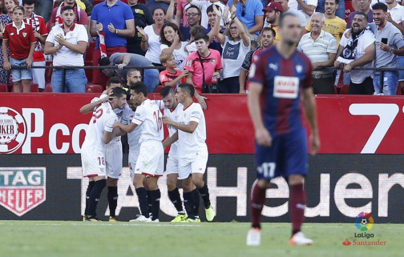 El Sevilla se reafirma ante el Eibar