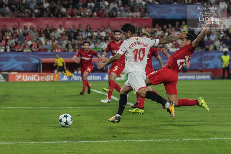 Un Sevilla con mayor movilidad consiguió desestabilizar al Spartak