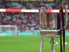Imagen de la Copa del Rey, antes de la final entre Sevilla y Barcelona en el Wanda   Imagen: RFEF