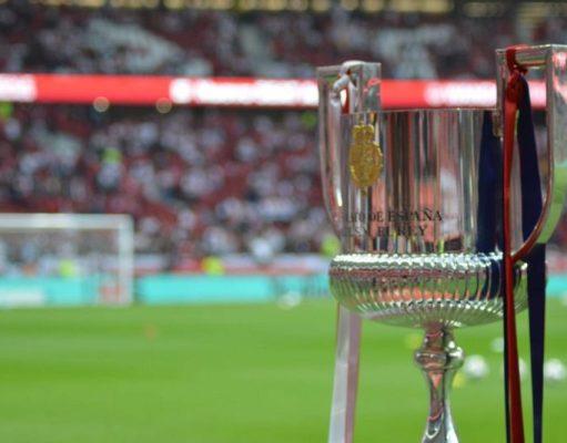 Imagen de la Copa del Rey, antes de la final entre Sevilla y Barcelona en el Wanda | Imagen: RFEF
