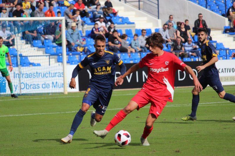 El UCAM Murcia no da opciones al Sevilla Atlético