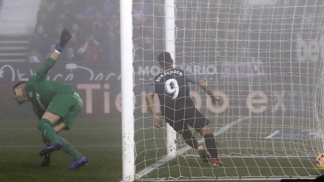 Ben Yedder rescata un punto para el Sevilla bajo la niebla de Butarque